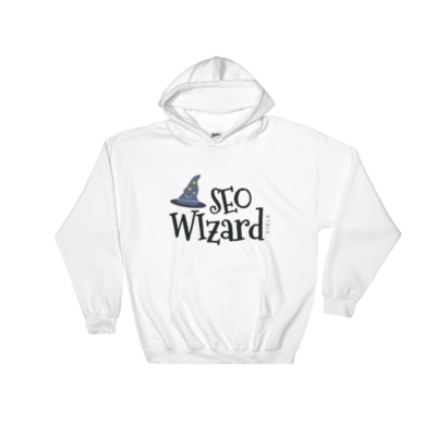 SEO Wizard Hooded Sweatshirt - White