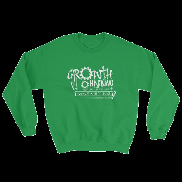 Growth Hacking = Engineering + Marketing Sweatshirt (Irish Green)