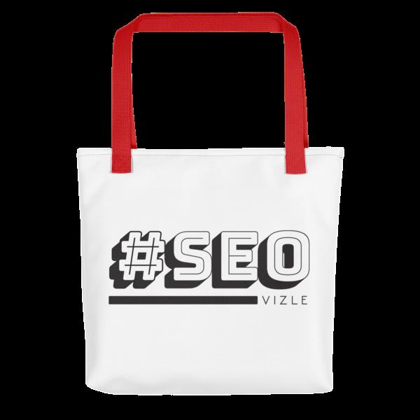 #SEO Tote Bag - Red Handle