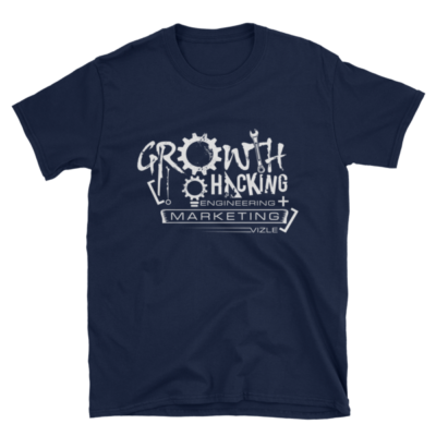 Growth Hacking = Engineering + Marketing T-Shirt (Navy)
