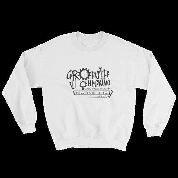 """Growth Hacking = Engineering + Marketing"" Sweatshirt (White)"