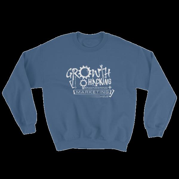 Growth Hacking = Engineering + Marketing Sweatshirt (Indigo Blue)
