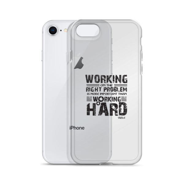 """""""Working on the Right Problem..."""" iPhone Case"""