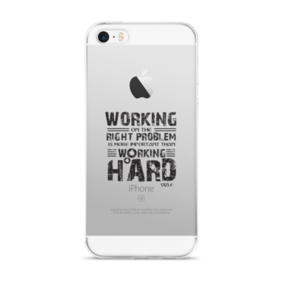 """Working on the Right Problem..."" iPhone Case"