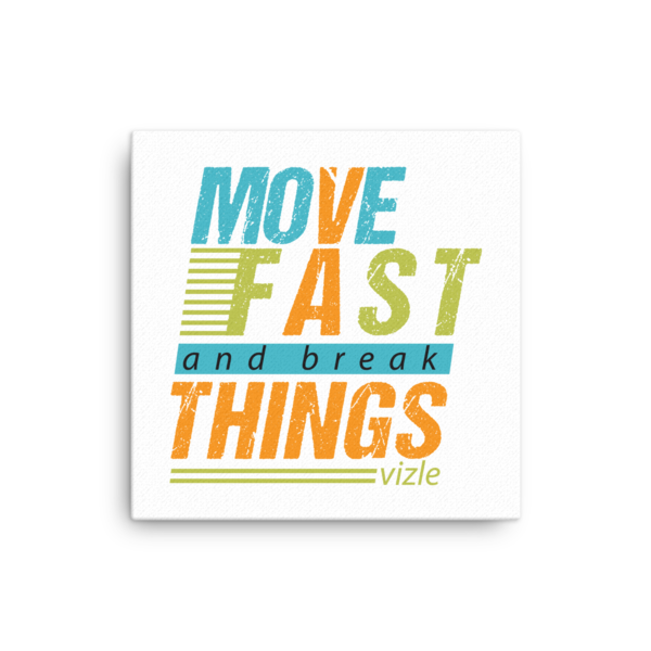 """Move Fast & Break Things"" Canvas"