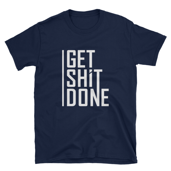 """""""Get Shit Done"""" T-Shirt, Aaron Levie (Navy)"""