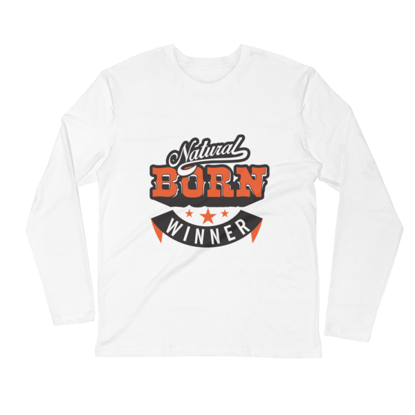 """Natural Born Winner"" Long Sleeve T-Shirt (White)"