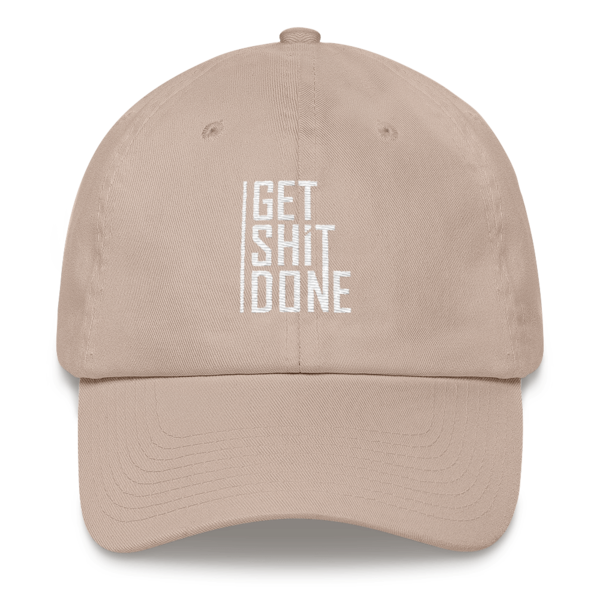 """""""Get Shit Done"""" Hat, Aaron Levie (Stone)"""