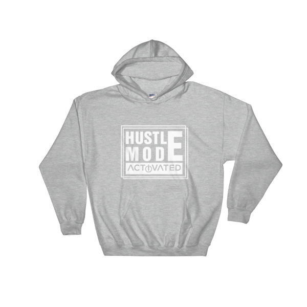 """Hustle Mode Activated"" Hoodie (Sports Grey)"