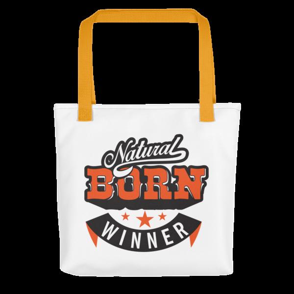 """""""Natural Born Winner"""" Tote Bag (Yellow Handle)"""