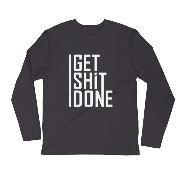 """Get Shit Done"" Long Sleeve T-Shirt, Aaron Levie (Heavy Metal)"