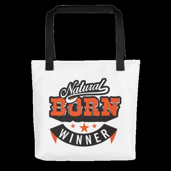 """""""Natural Born Winner"""" Tote Bag (Black Handle)"""