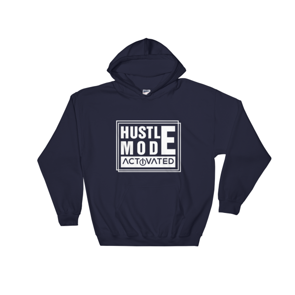 """Hustle Mode Activated"" Hoodie (Navy)"