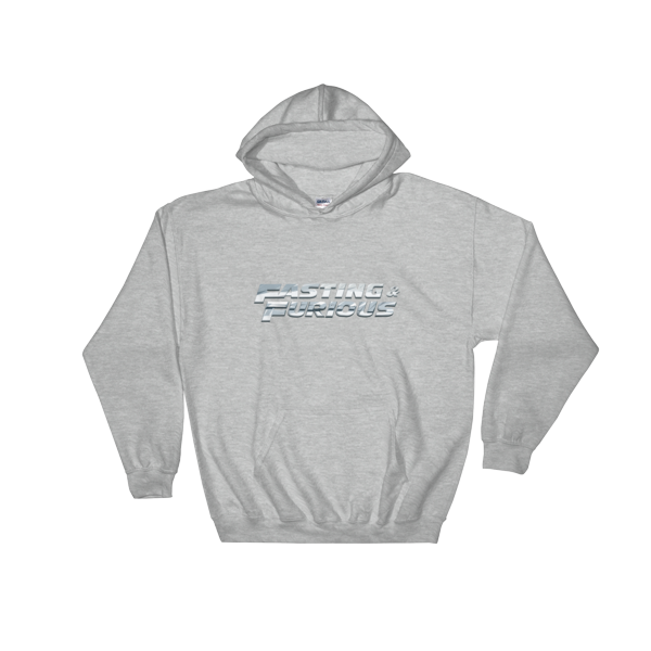 """Fasting & Furious"" Hoodie, Intermittent Fasting (IF) (Sport Grey)"