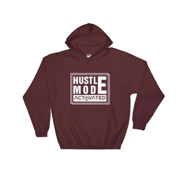"""Hustle Mode Activated"" Hoodie (Maroon)"