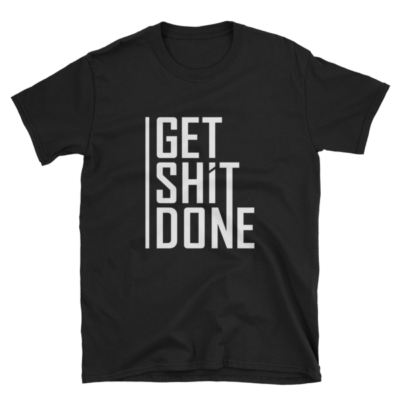 """Get Shit Done"" T-Shirt, Aaron Levie (Black)"