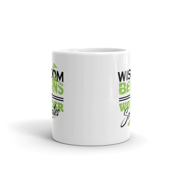 """Wisdom Begins in Wonder"" by Socrates Mug"