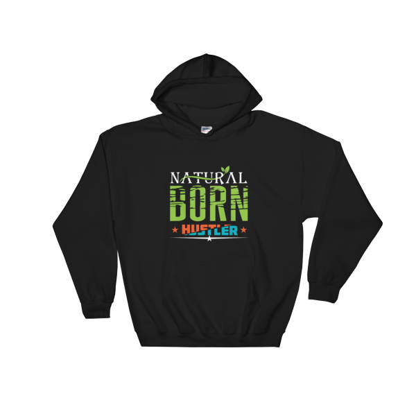 """Natural Born Hustler"" Hoodie (Black)"