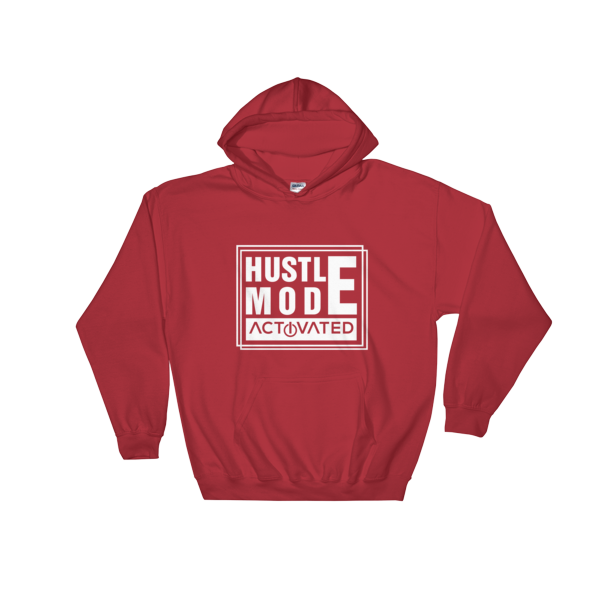 """Hustle Mode Activated"" Hoodie (Red)"