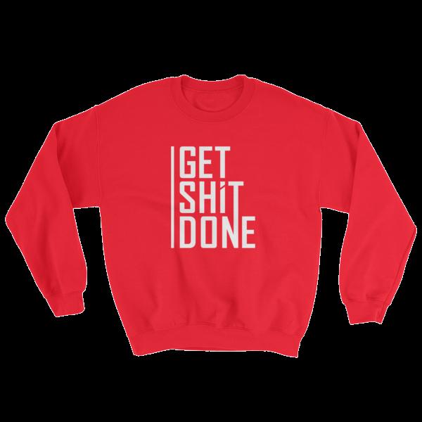 """Get Shit Done"" Sweatshirt, Aaron Levie (Red)"