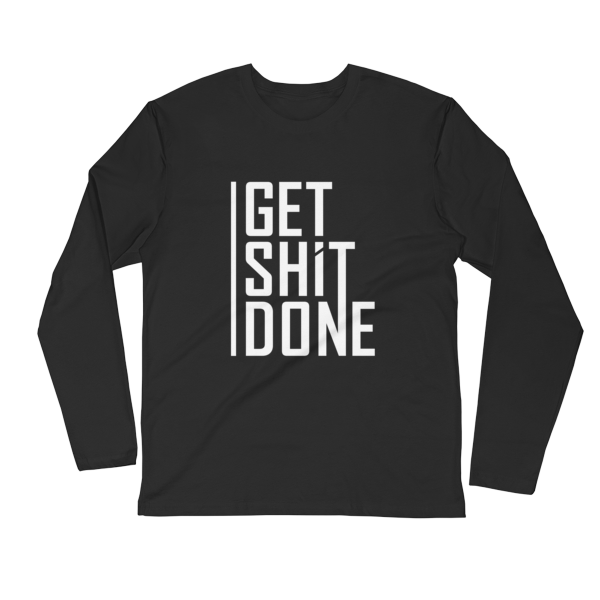 """Get Shit Done"" Long Sleeve T-Shirt, Aaron Levie (Black)"