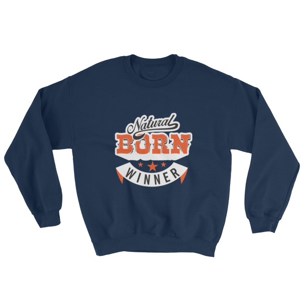 """Natural Born Winner"" Sweatshirt (Navy)"