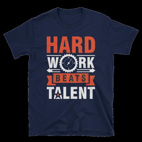 """""""Hard Work Beats Talent"""" T-Shirt (Navy)"""