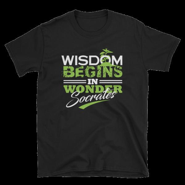 """Wisdom Begins in Wonder"" T-Shirt (Black)"