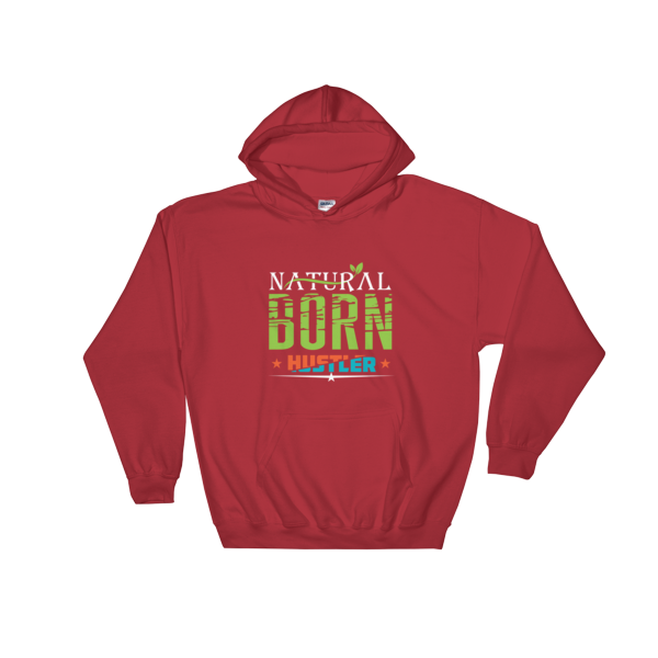 """Natural Born Hustler"" Hoodie (Red)"