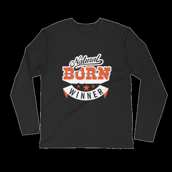 """Natural Born Winner"" Long Sleeve T-Shirt (Black)"