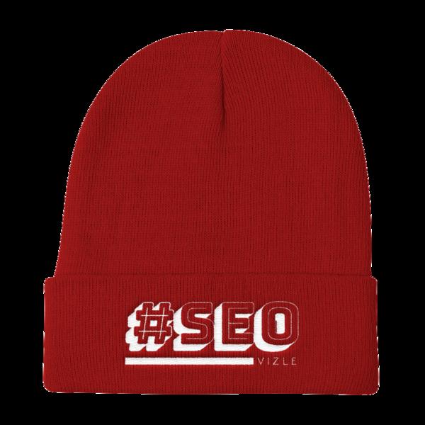 #SEO Beanie Red