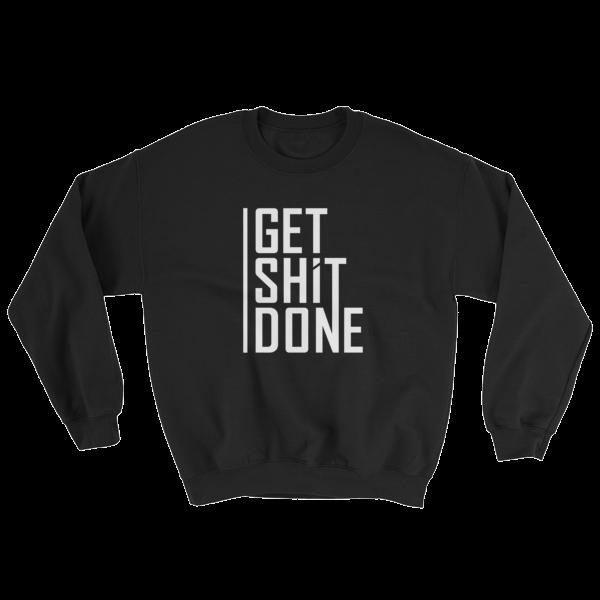 """Get Shit Done"" Sweatshirt, Aaron Levie (Black)"