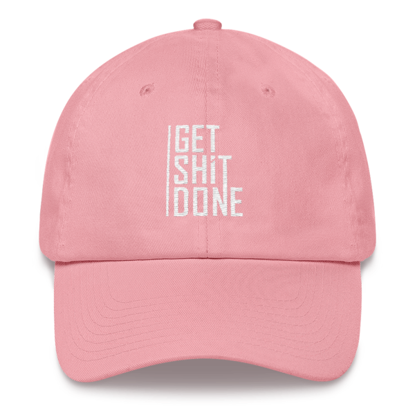 """""""Get Shit Done"""" Hat, Aaron Levie (Pink)"""