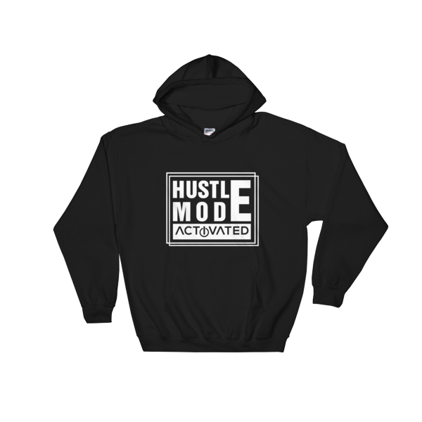 """Hustle Mode Activated"" Hoodie (Black)"