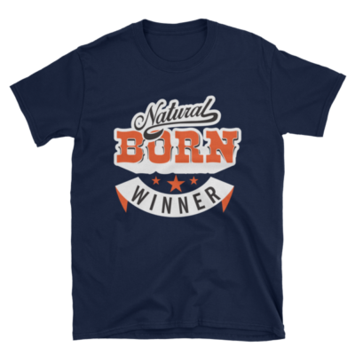 """Natural Born Winner"" T-Shirt (Navy)"