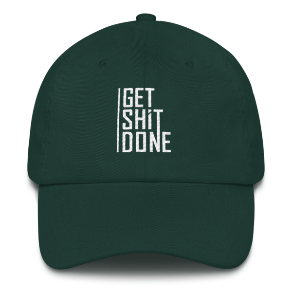 """""""Get Shit Done"""" Hat, Aaron Levie (Spruce)"""