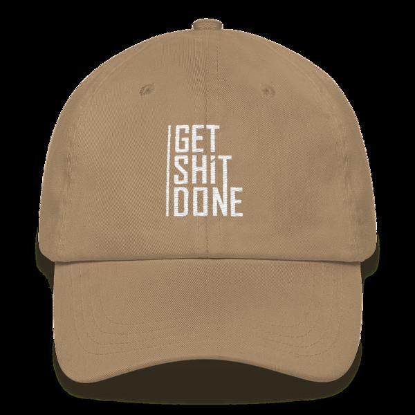 """Get Shit Done"" Hat, Aaron Levie (Khaki)"