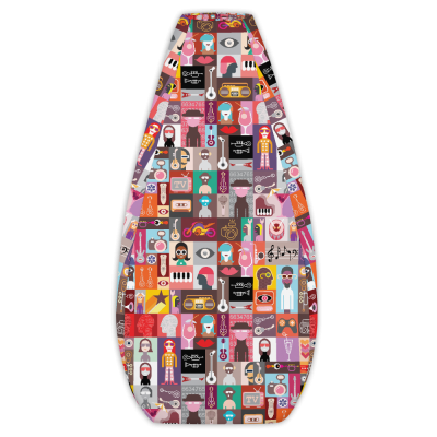Music & Cocktail Party Pop Art Bean Bag Cover