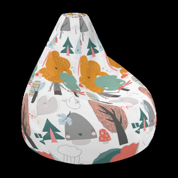 Colourful Autumn Trees Bean Bag Chair w/ Filling
