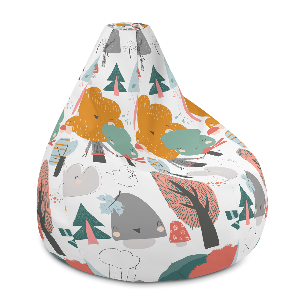 Incredible Colourful Autumn Trees Bean Bag Chair W Filling Gmtry Best Dining Table And Chair Ideas Images Gmtryco