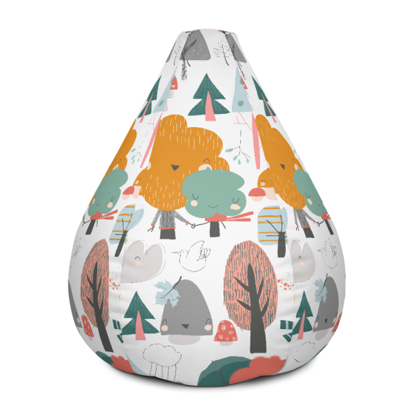 Colourful Autumn Trees Bean Bag Chair w/ Filling