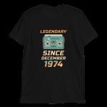 Legendary Since December 1974 Vintage T-Shirt (Black)