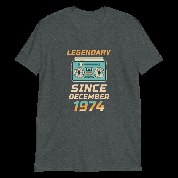 Legendary Since December 1974 Vintage T-Shirt (Dark Heather)