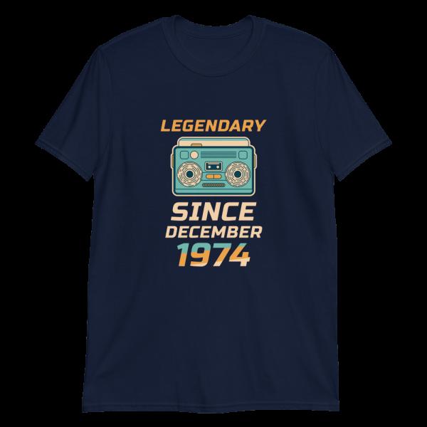 Legendary Since December 1974 Vintage T-Shirt (Navy)