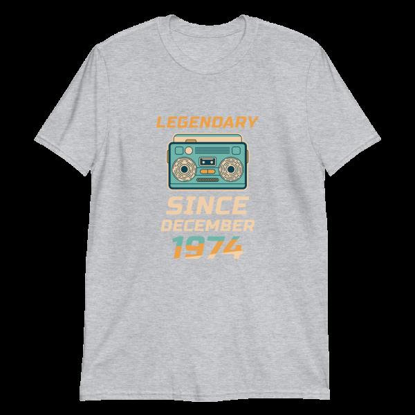 Legendary Since December 1974 Vintage T-Shirt (Sport Grey)