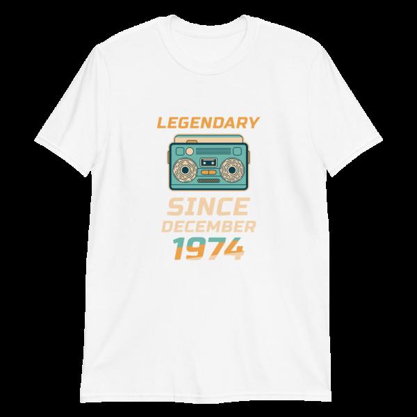 Legendary Since December 1974 Vintage T-Shirt (White)